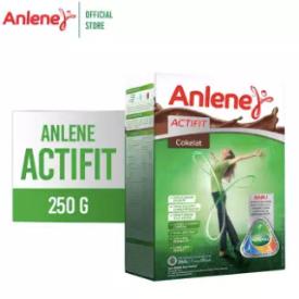 Anlene Actifit Cokelat 250gr - Susu Bubuk - Nutrisi Tulang, Sendi, dan Otot