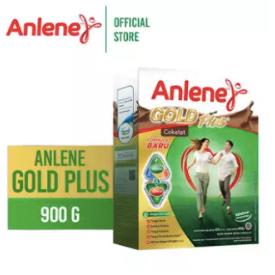 Anlene Gold Plus Chocolate 900gr - Susu Bubuk - Nutrisi Jantung, Tulang, Sendi & Otot