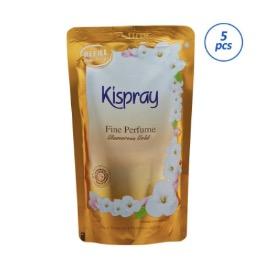 Kispray Glamorous Gold Pouch Pelembut & Pelicin Pakaian [300 mL/5 Pcs]