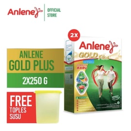 Anlene Gold Plus Vanilla 250gr 2 Pcs Free Toples Susu 2300ml