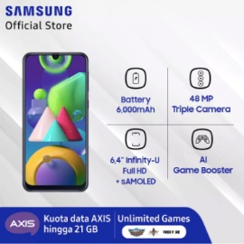 Samsung Galaxy M21 - Baterai 6000 MaH - Super Amoled - 48 MP - 4/64 GB